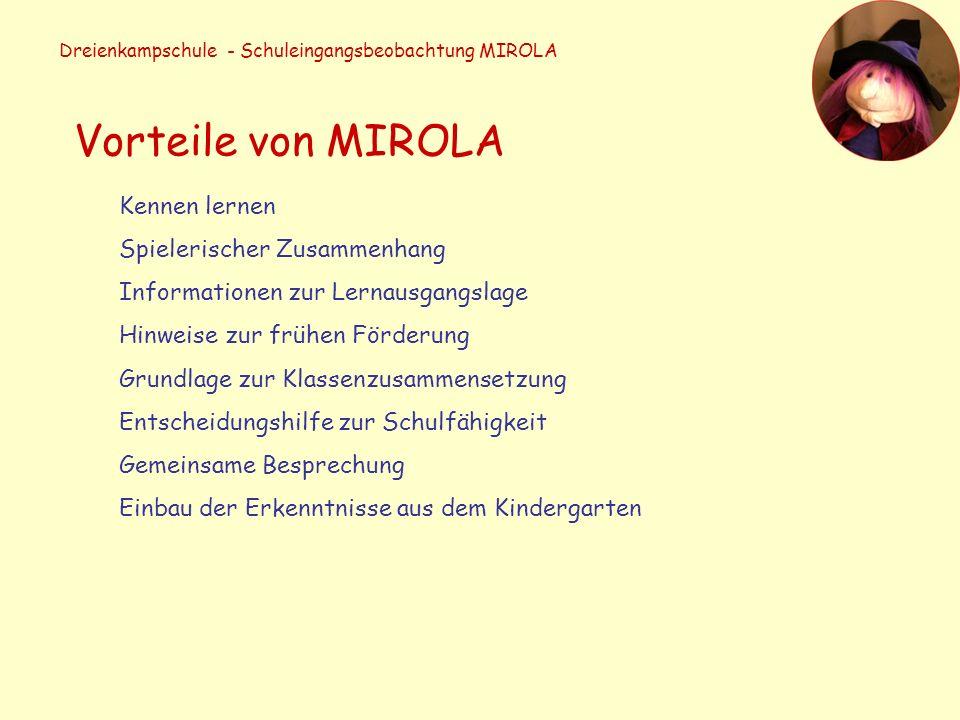 Dreienkampschule - Schuleingangsbeobachtung MIROLA