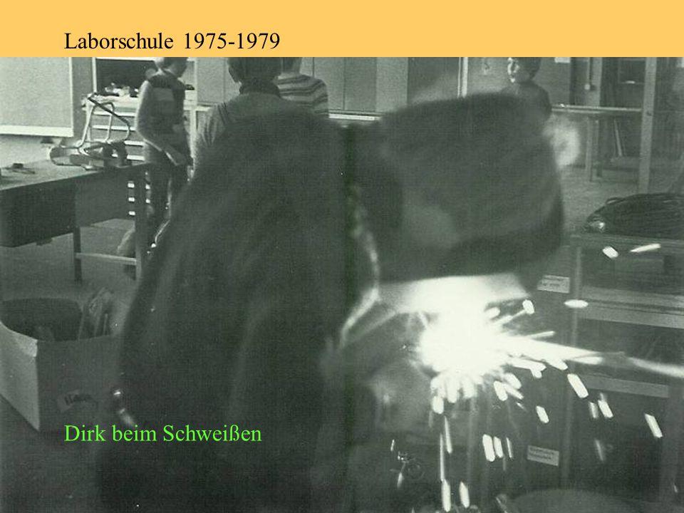 Laborschule 1975-1979 Dirk beim Schweißen