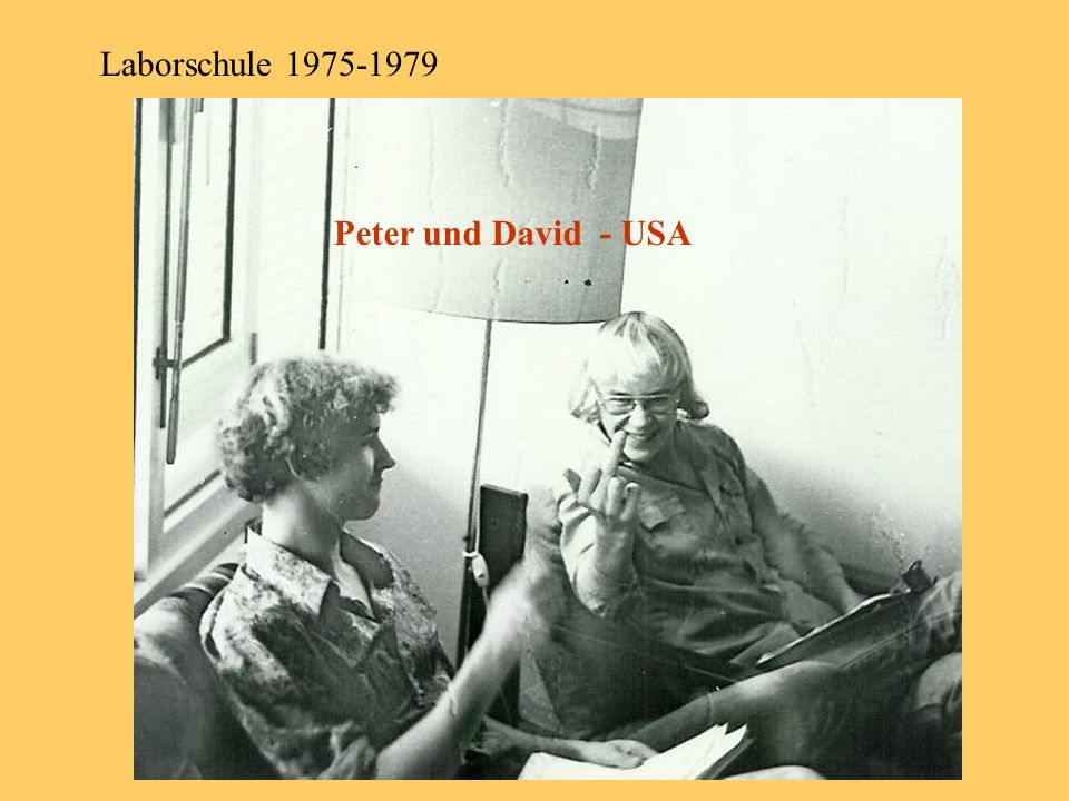 Laborschule 1975-1979 Peter und David - USA