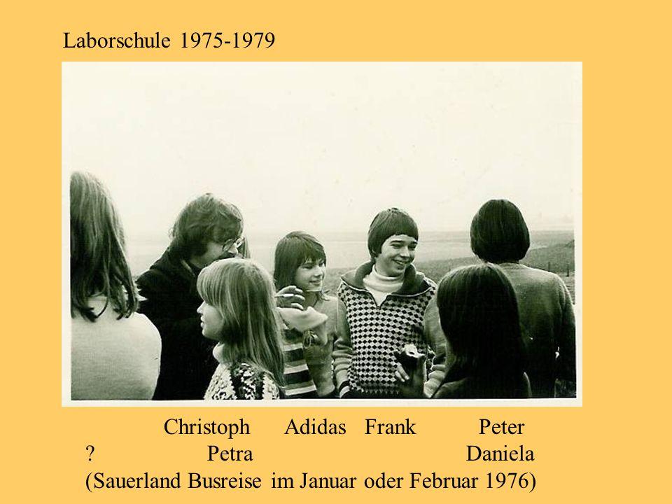 Laborschule 1975-1979 Christoph Adidas Frank Peter. Petra Daniela.