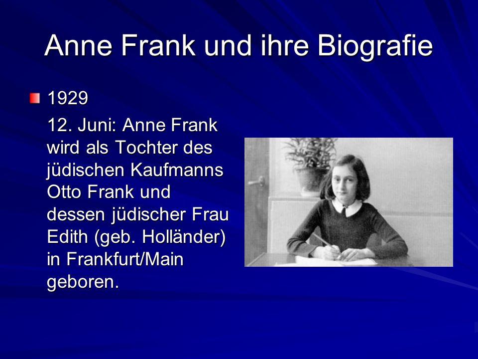 Anne Frank und ihre Biografie