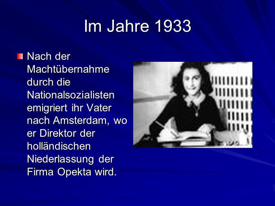 Im Jahre 1933