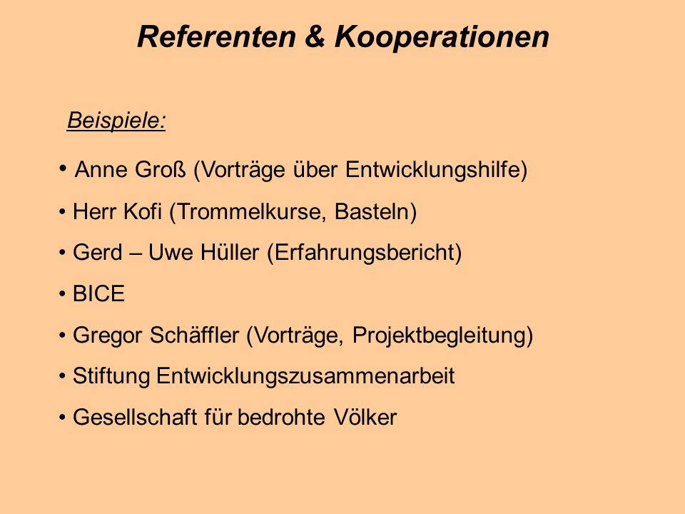 Referenten & Kooperationen