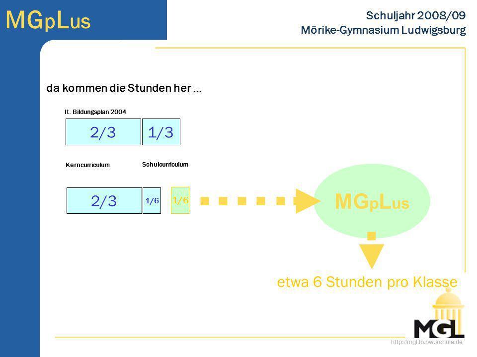 MGpLus 2/3 1/3 2/3 etwa 6 Stunden pro Klasse