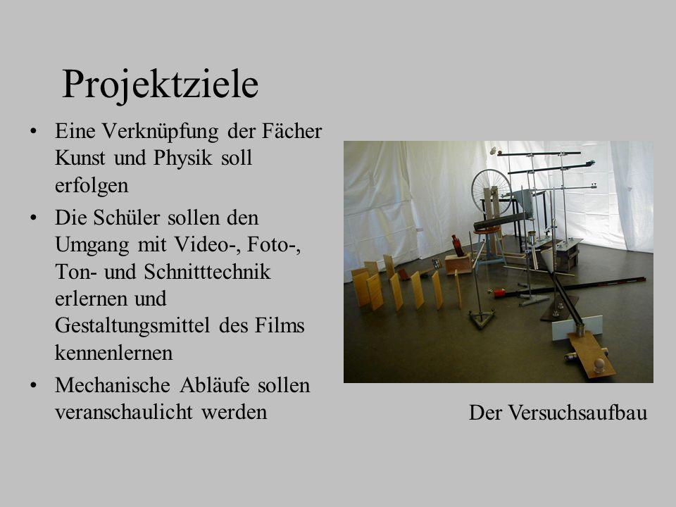 Projektziele Eine Verknüpfung der Fächer Kunst und Physik soll erfolgen.
