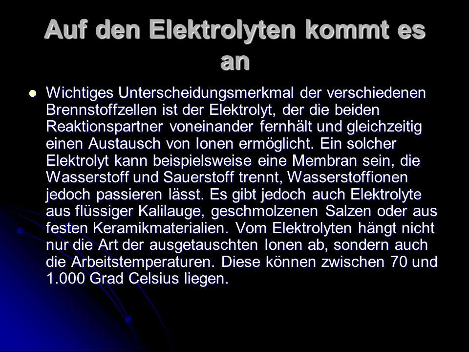Auf den Elektrolyten kommt es an