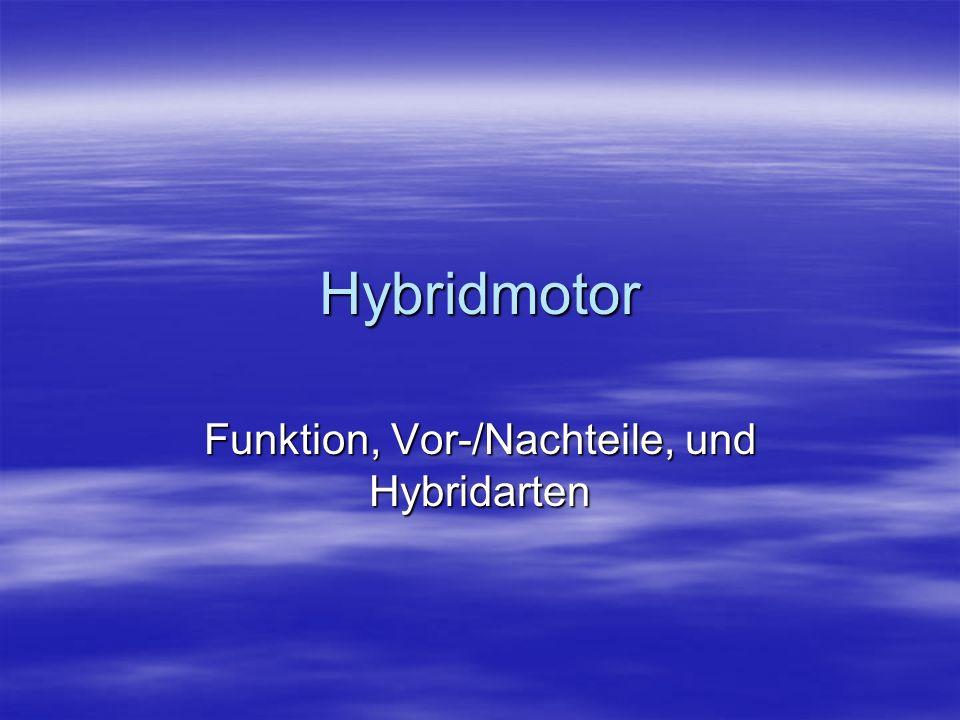 Funktion, Vor-/Nachteile, und Hybridarten