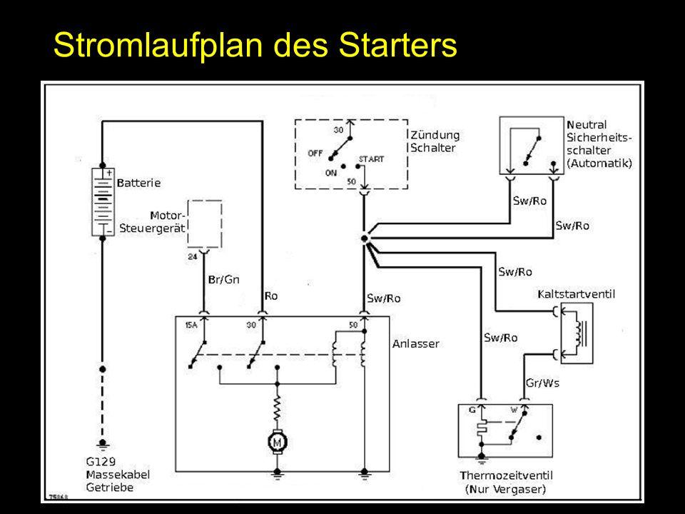 Stromlaufplan des Starters