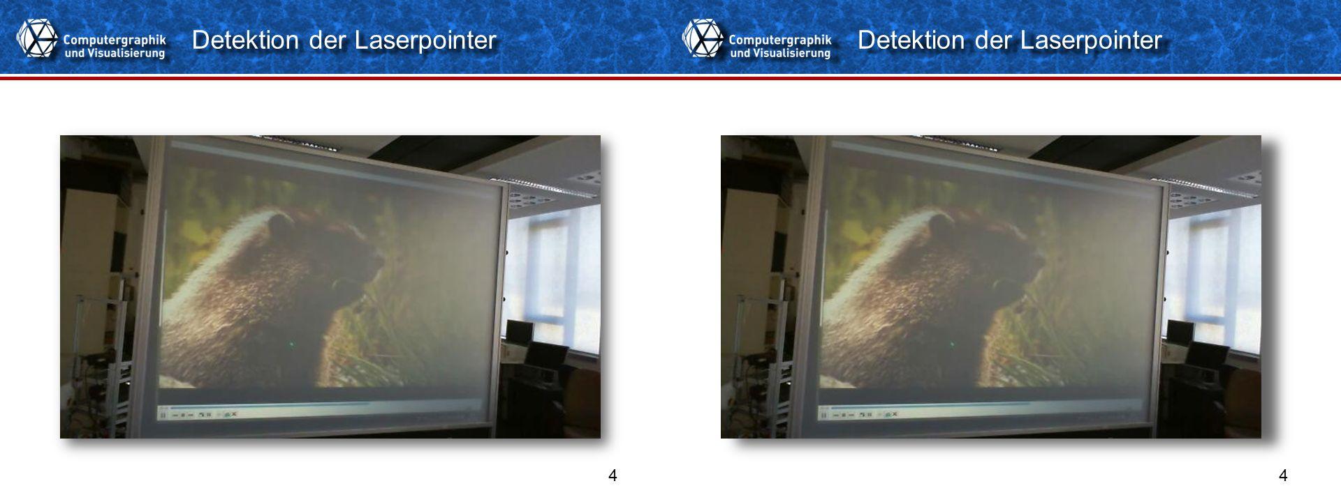 Detektion der Laserpointer