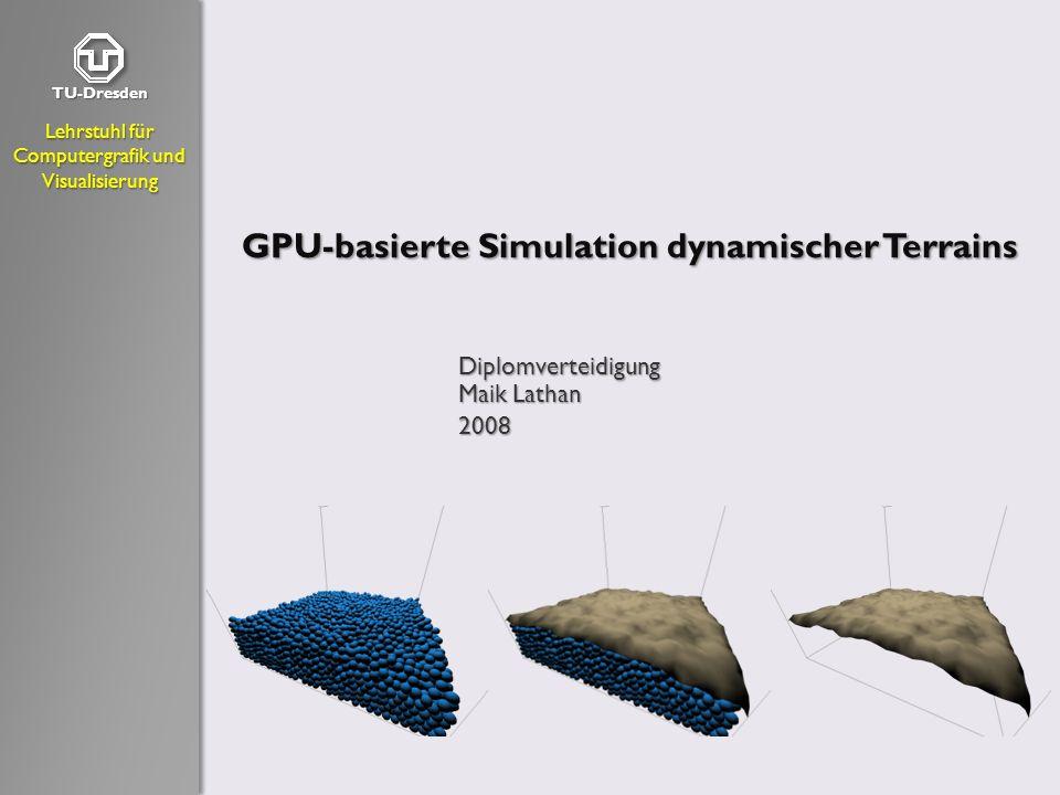 GPU-basierte Simulation dynamischer Terrains