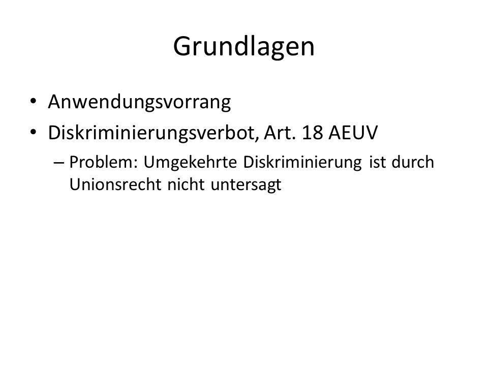 Grundlagen Anwendungsvorrang Diskriminierungsverbot, Art. 18 AEUV