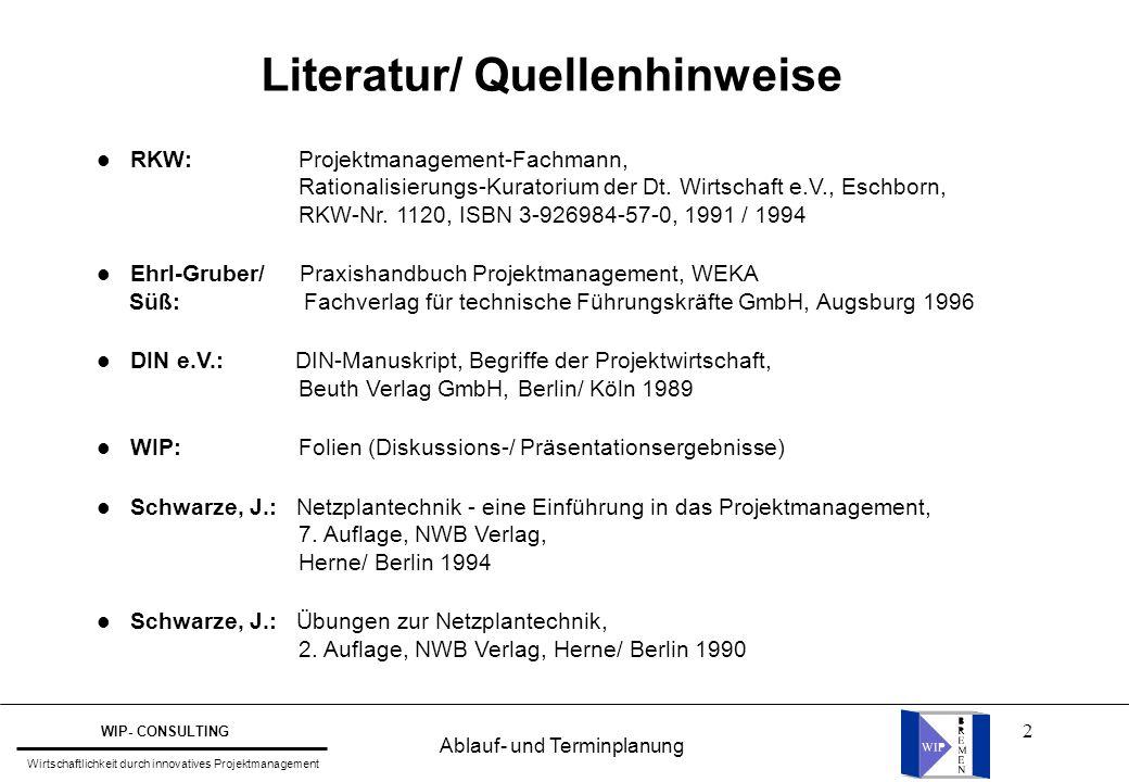 Literatur/ Quellenhinweise
