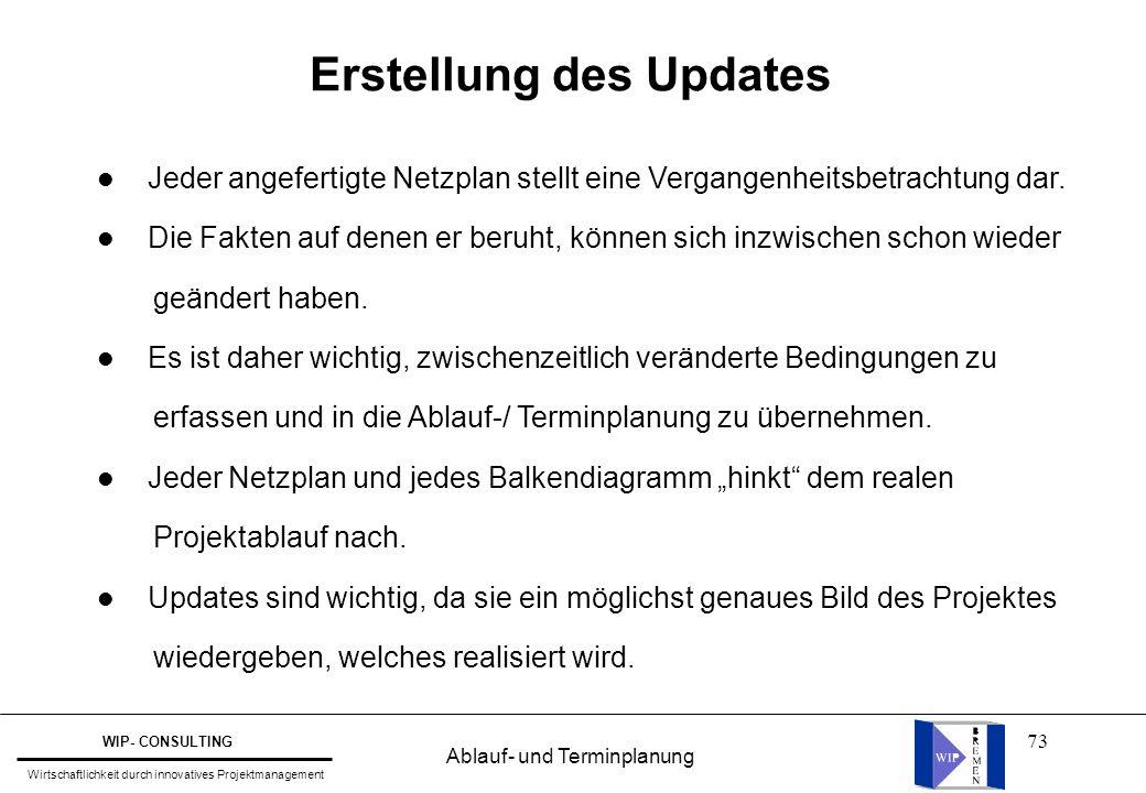 Erstellung des Updates