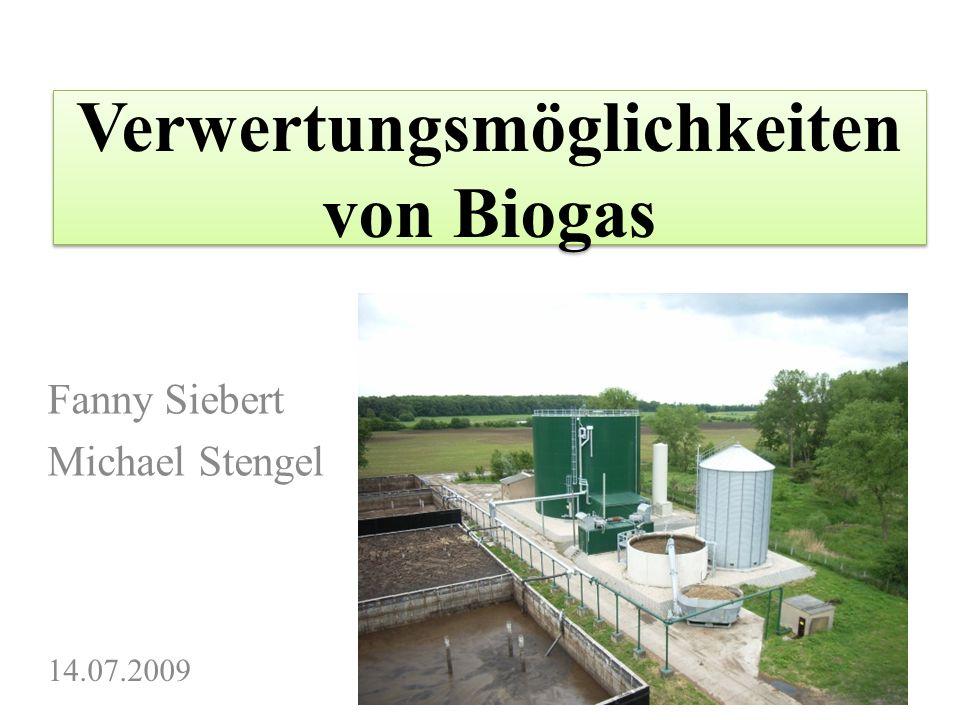 Verwertungsmöglichkeiten von Biogas
