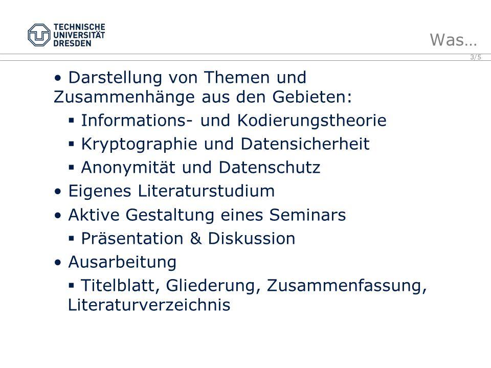 Darstellung von Themen und Zusammenhänge aus den Gebieten: