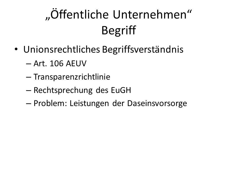 """""""Öffentliche Unternehmen Begriff"""