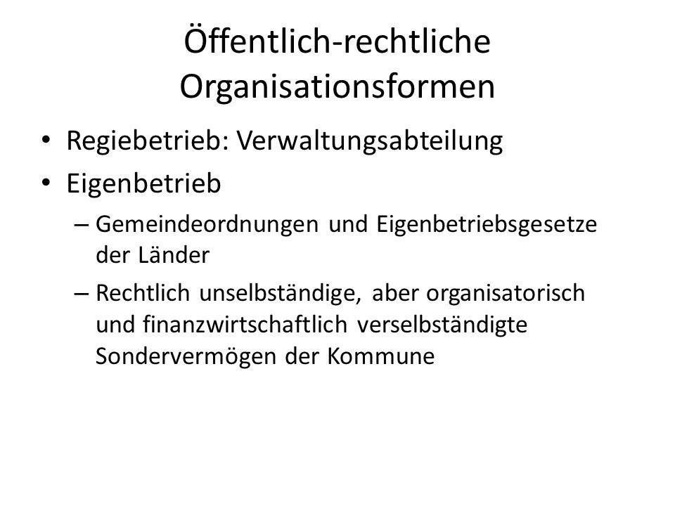 Öffentlich-rechtliche Organisationsformen