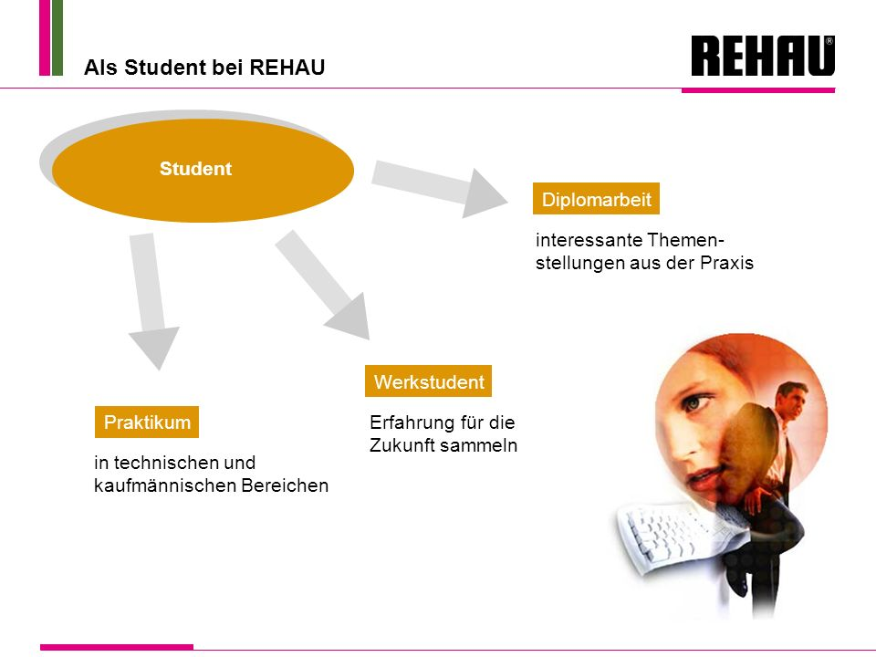 Als Student bei REHAU Student Diplomarbeit interessante Themen-