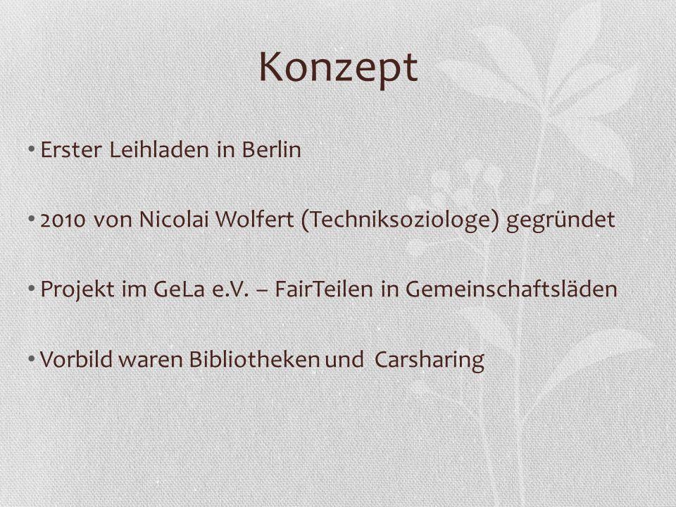 Konzept Erster Leihladen in Berlin