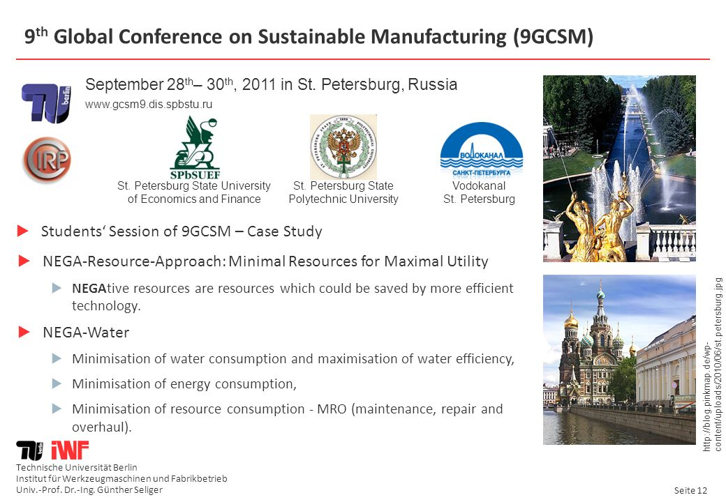 9th Global Conference on Sustainable Manufacturing (9GCSM)
