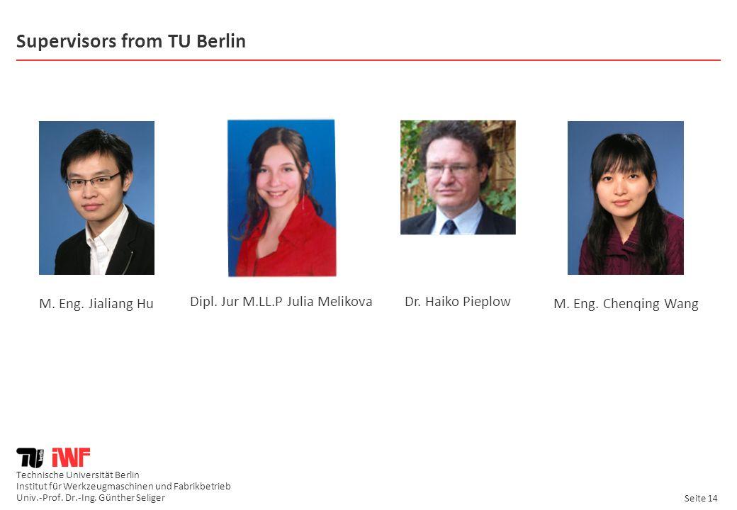 Supervisors from TU Berlin