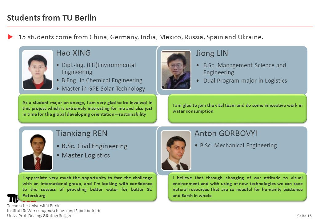 Students from TU Berlin