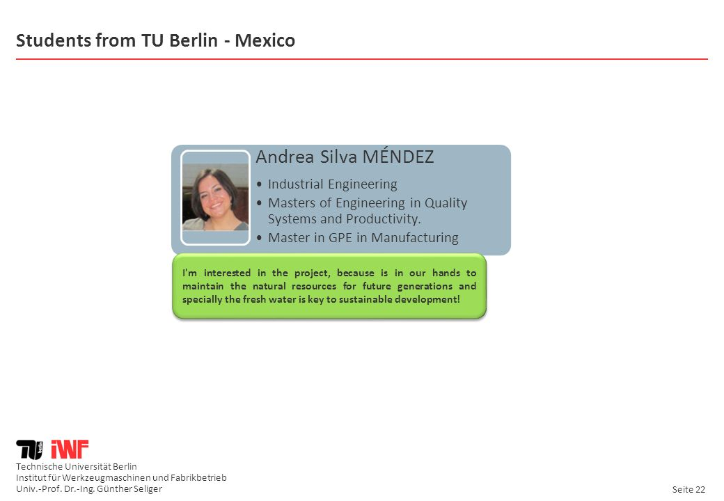 Students from TU Berlin - Mexico