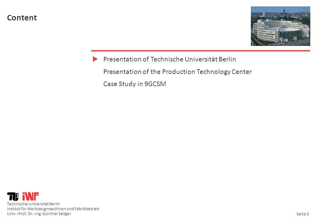 Content Presentation of Technische Universität Berlin