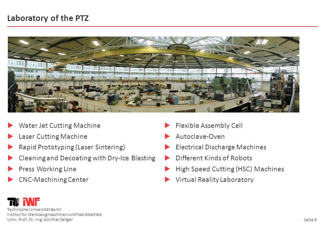 Laboratory of the PTZ Water Jet Cutting Machine Laser Cutting Machine