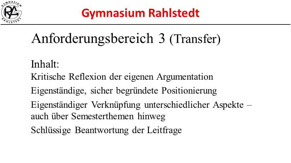 Anforderungsbereich 3 (Transfer)