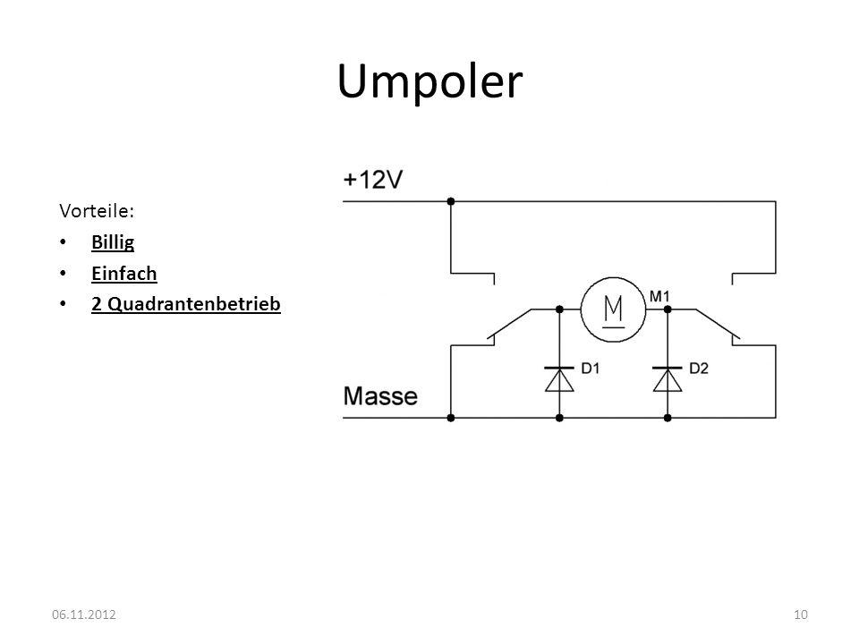 Umpoler Vorteile: Billig Einfach 2 Quadrantenbetrieb 06.11.2012