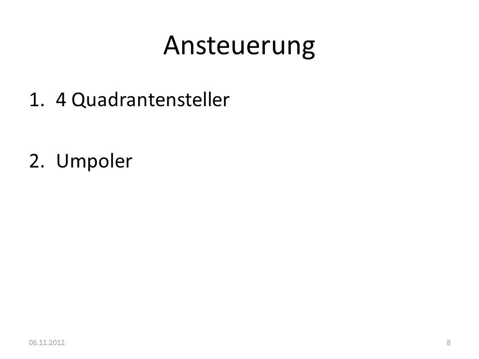Ansteuerung 4 Quadrantensteller Umpoler 06.11.2012
