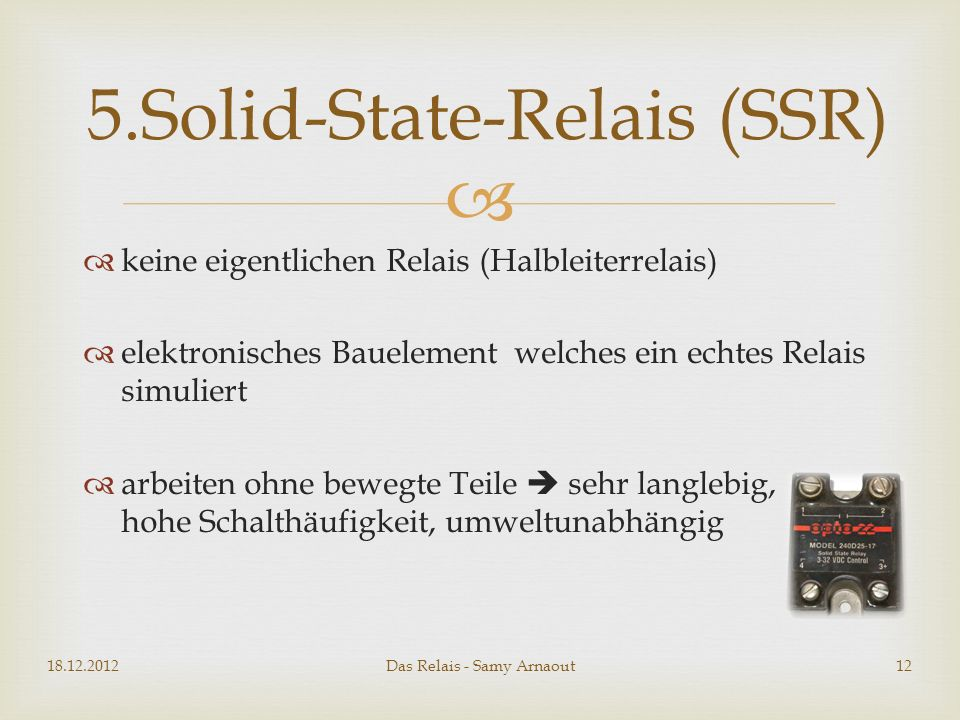 5.Solid-State-Relais (SSR)