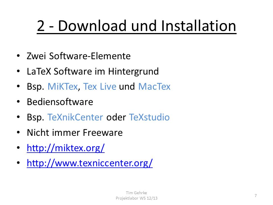 2 - Download und Installation