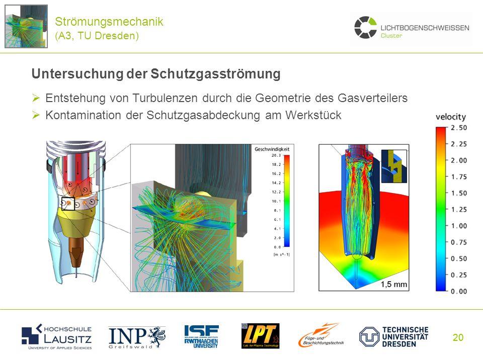 Untersuchung der Schutzgasströmung