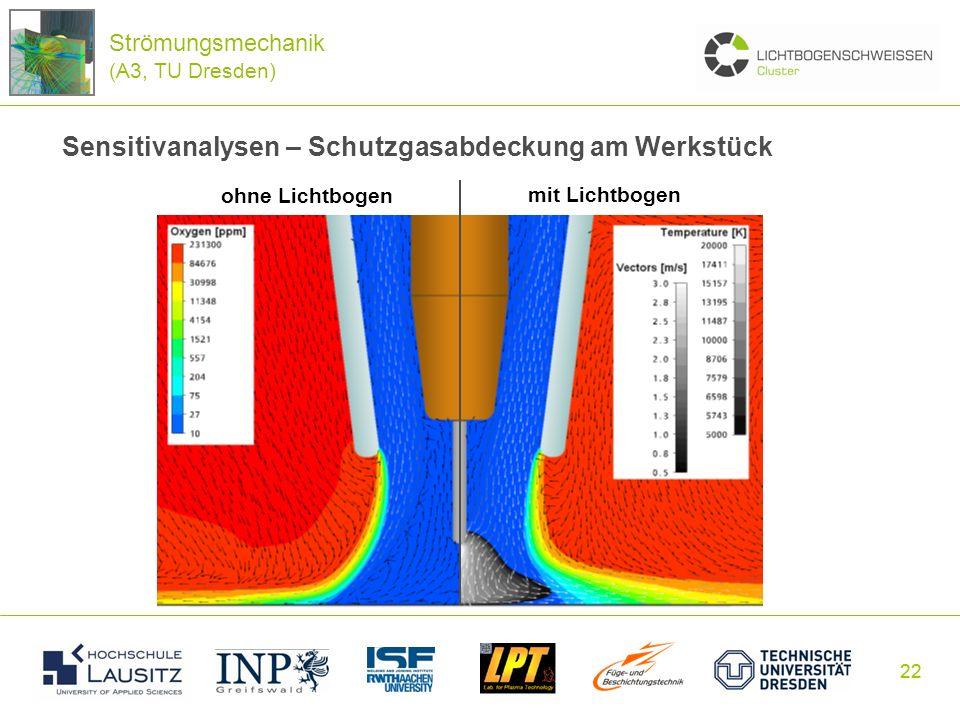 Sensitivanalysen – Schutzgasabdeckung am Werkstück