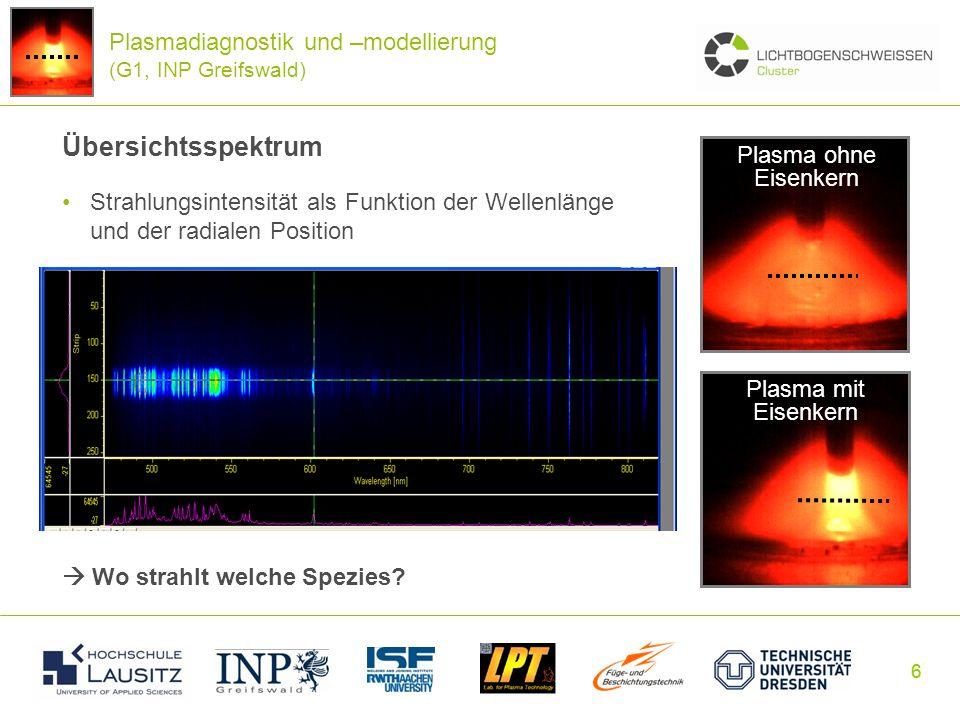 Plasmadiagnostik und –modellierung (G1, INP Greifswald)