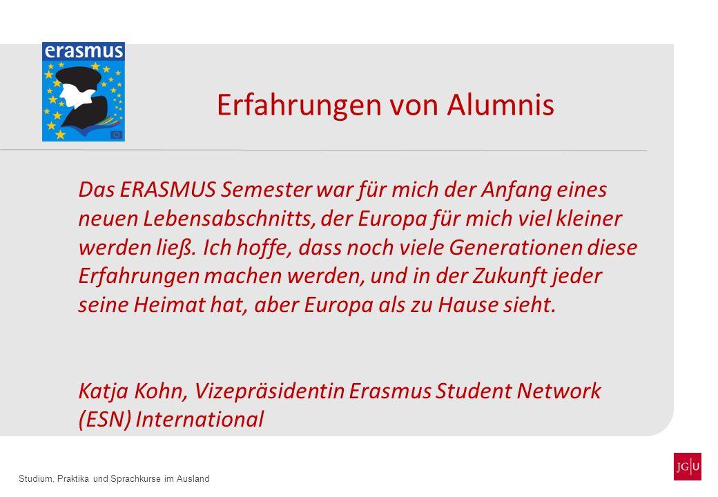 Erfahrungen von Alumnis