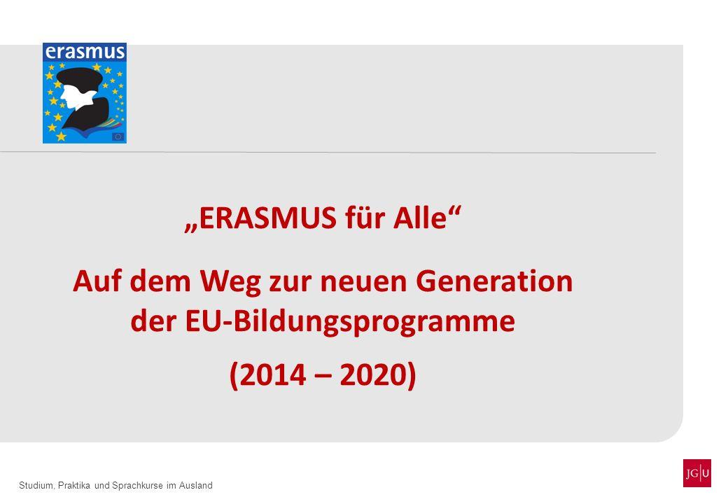 Auf dem Weg zur neuen Generation der EU-Bildungsprogramme