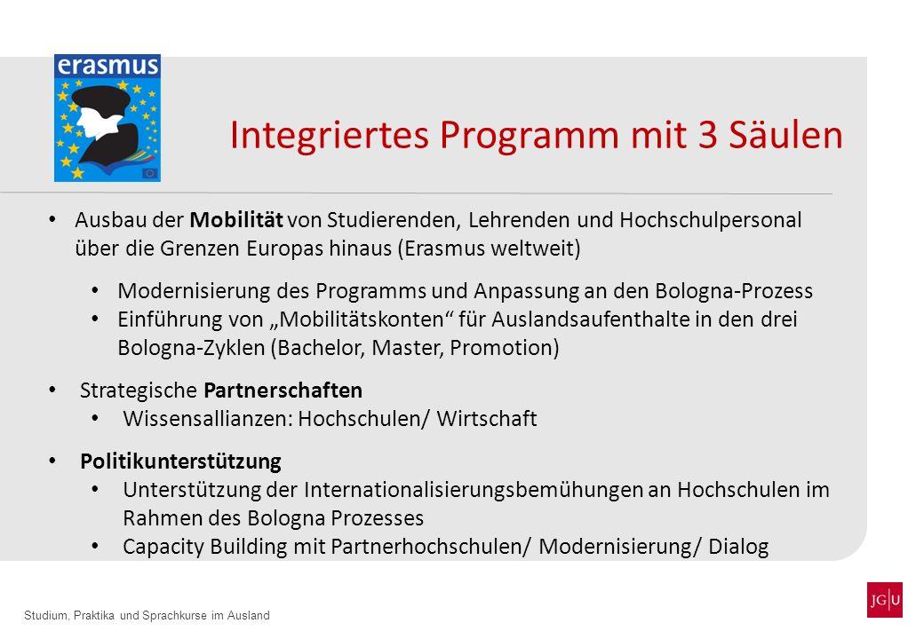Integriertes Programm mit 3 Säulen