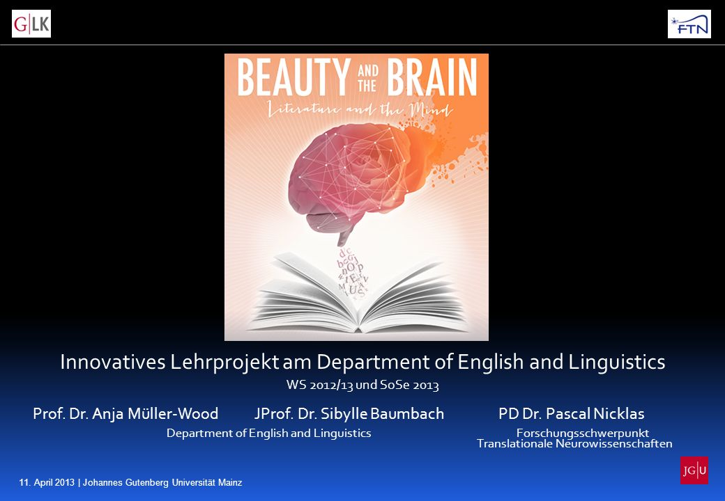 Innovatives Lehrprojekt am Department of English and Linguistics
