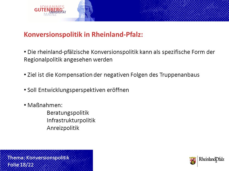 Konversionspolitik in Rheinland-Pfalz: