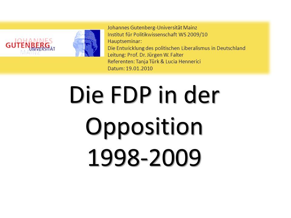 Die FDP in der Opposition 1998-2009