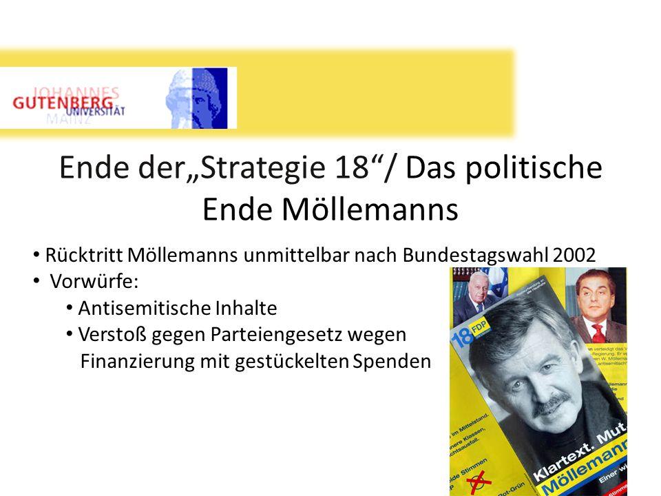 """Ende der""""Strategie 18 / Das politische Ende Möllemanns"""