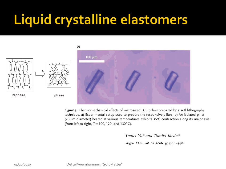 Liquid crystalline elastomers