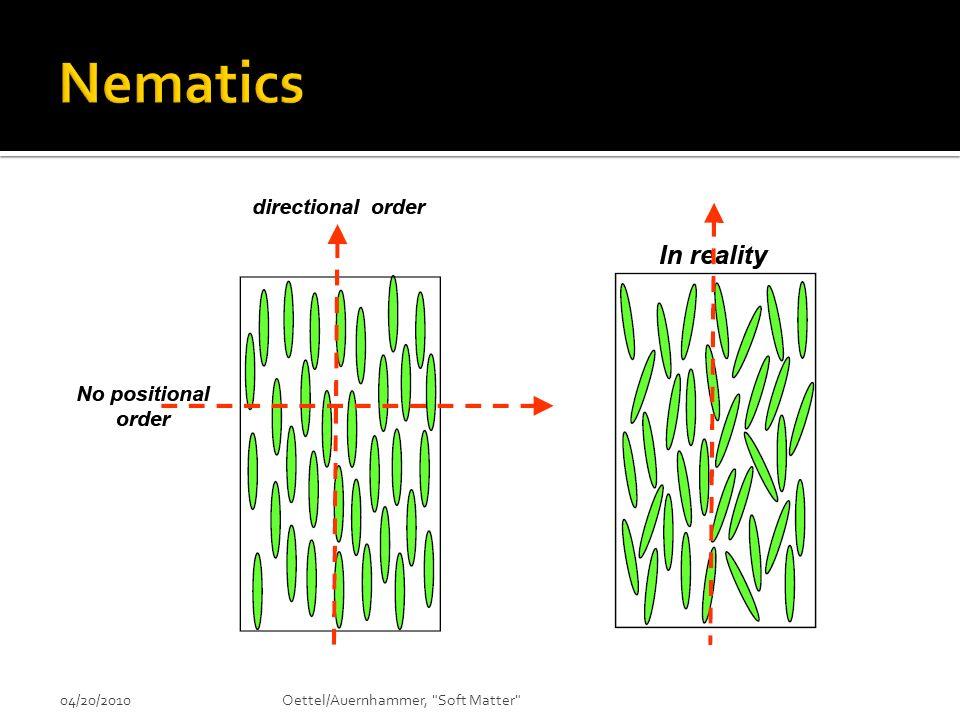 Nematics 04/20/2010 Oettel/Auernhammer, Soft Matter