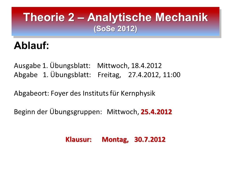 Theorie 2 – Analytische Mechanik (SoSe 2012)