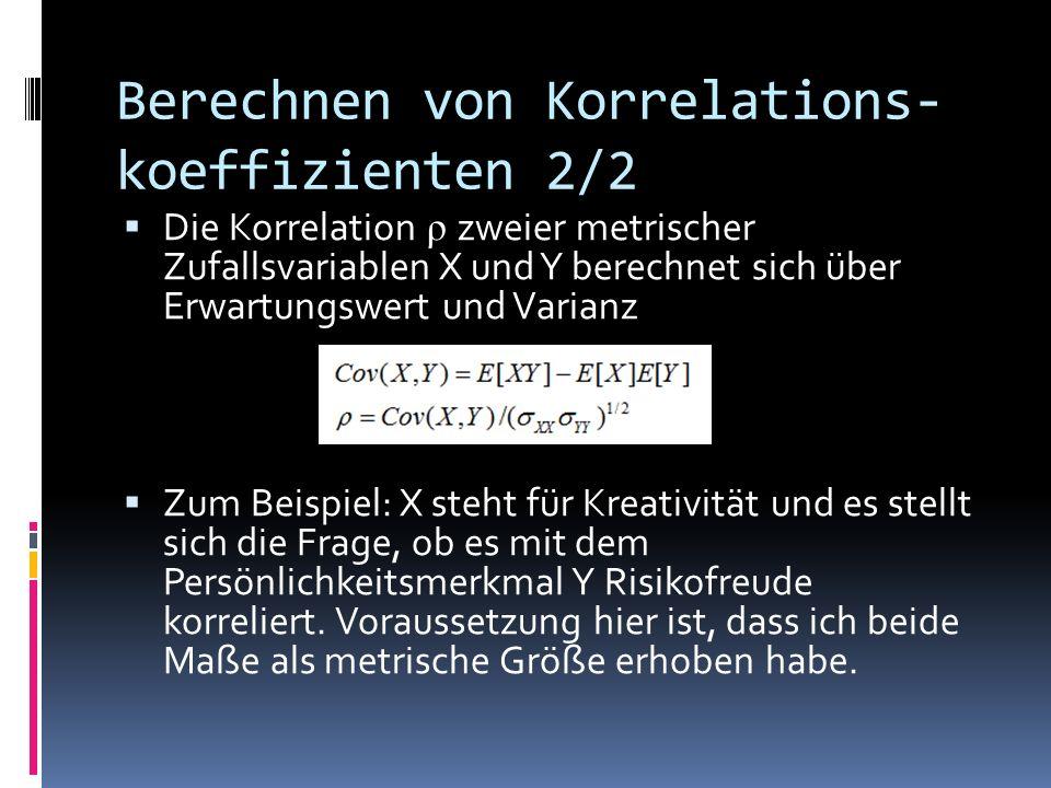 Berechnen von Korrelations-koeffizienten 2/2