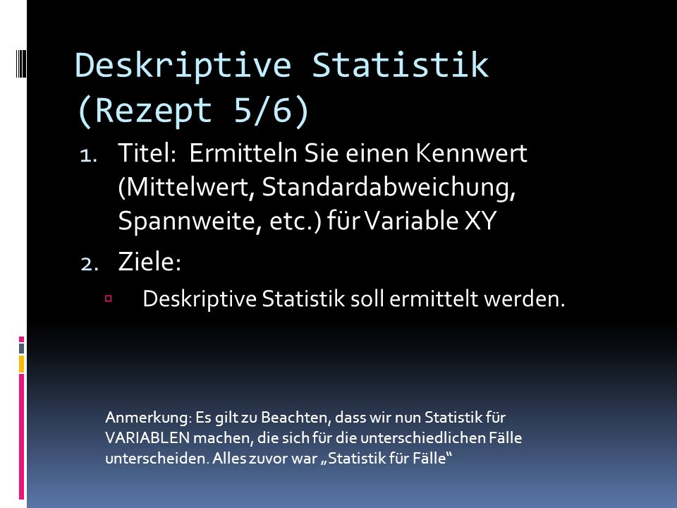 Deskriptive Statistik (Rezept 5/6)