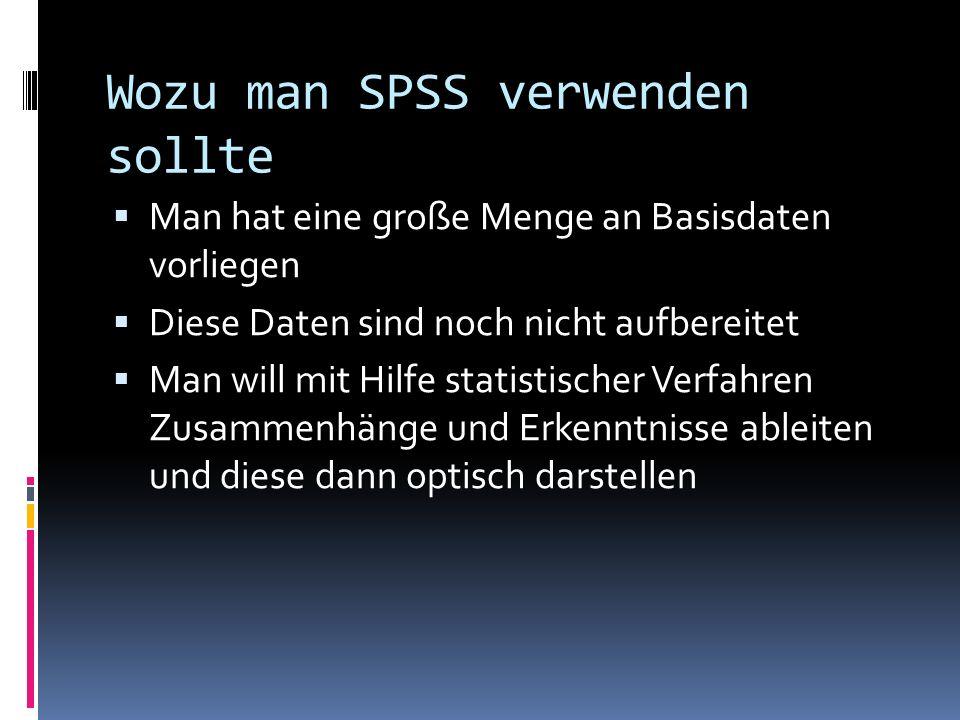 Wozu man SPSS verwenden sollte